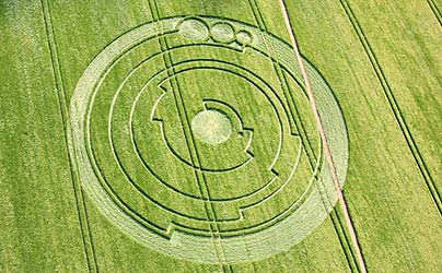 A solved crop circle pattern