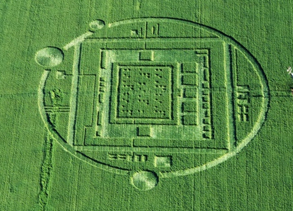 A unsolved crop circle pattern