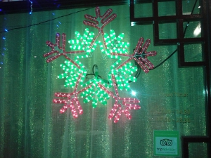 An electric snowflake that doesn't have six legs