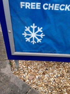A snowflake graphic that doesn't have six legs